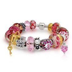 bf4d6a166 Bling Jewelry 925 Sterling I Love You Forever Pandora Compatible Charm  Bracelet