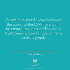 Everyone can enjoy the power of #LOA. #RhondaByrne #lawofattraction #Quotes #Motivation MagnetDatingApp.com