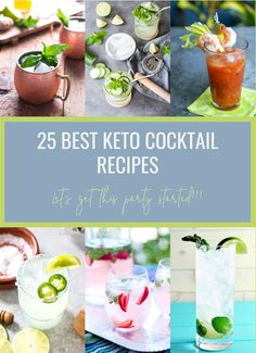 25 of the Best Keto Cocktail Recipes we could find to help you get your low carb sip on! 25 of the Best Keto Cocktail Recipes we could find to help you get your low carb sip on! Summer Drink Recipes, Summer Drinks, Cocktail Recipes, Fun Drinks, Ketogenic Recipes, Low Carb Recipes, Ketogenic Diet, Free Recipes, Granola