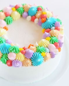 A beautiful cake that is easy to do but Mom will never know you didn't spend hours and hours on it!