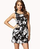 $19.80 Abstract Floral Fit & Flare Dress