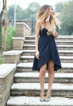 blue dress bustier