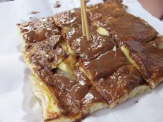 Thai Pancake. Aka Thai version of a banana nutella crepe.