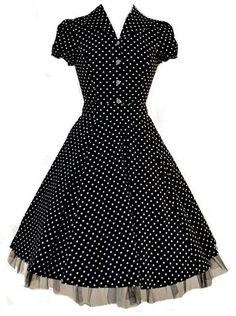 I could have 20 dresses like this and still want more. Love me some vintage polka dots! And a crinoline. Who doesn't love a crinoline?