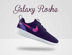 Custom Nike Roshe Run Galaxy Nike Roshe Run Black and by MindysLab, $240.00