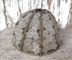 Etsy listing at https://www.etsy.com/listing/177340462/reserved-antique-beaded-lampshade-circa