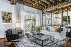 Open Space Living, Living Spaces, Warehouse Apartment, Warehouse Conversion, Exposed Brick Walls, Steel Beams, Rooftop Terrace, City Living, Apartments For Sale