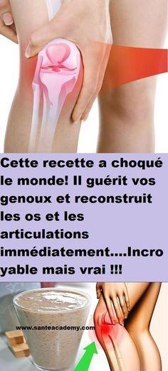 Cette recette a choqué le monde! Il guérit vos genoux et reconstruit les os et les articulations immédiatement….Incroyable mais vrai !!!