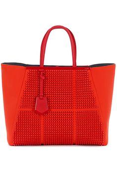 Fendi - Bags - 2013 Spring-Summer Red tote carryall bag satchel handbag