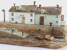 Seaview cottages made from various bits of boat and stuff. I love working with hard woods most of all. Such subtle textures and colours.