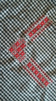 Chicken Scratch Patterns, Chicken Scratch Embroidery, Diy Arts And Crafts, Diy Crafts, Hardanger Embroidery, Hand Stitching, Needlepoint, Gingham, Embroidery Designs