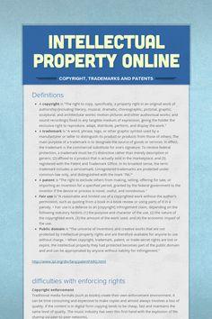 Intellectual Property Online