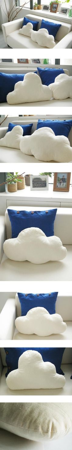 Cloud pillows. Dreamy, and they don't look too difficult to make.
