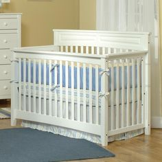 Crib: Your baby's crib is nearly always the centerpiece of the nursery. We love a fresh white wooden crib. Classic and sturdy!