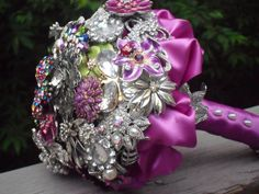 Large Brooch Bouquet Made to Order by thebejeweledflorist on Etsy, $349.00  @Clarissa Brown
