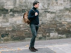 Men's Leather Backpack from Scaramanga's unique range of original leather bags. This leather rucksack is a bag he'll have for ages, to come. Men's Leather, Vintage Leather, Gender Neutral Colors, Leather Backpack For Men, Men's Backpacks, Natural Line, Vegetable Tanned Leather, Leather Working, Stylish