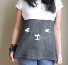 dba5065560e Casual and Cute Cat Tee. GesichtDiy ProjekteSucheKleidung  SelbermachenKatzengesichtAnleitung SelbermachenT Shirt AbwandelnNiedlichen  KatzenStickerei