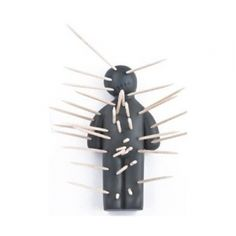 Ouch! Toothpick Holder - voodoo doll for toothpicks. $6.95 #unusualtoothpickholders