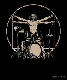 Vitruvian Man Drummer T-Shirt Greeting Card by deliverables headphone tattoo Tattoo For Boyfriend, Drum Tattoo, Drummer T Shirts, Arte Nerd, Drum Room, Drums Art, Pop Rock, Rock Posters, Rock Music