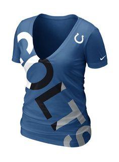 Nike Indianpolis Colts Heathered Logo Tri-Blend T-Shirt - Royal Blue
