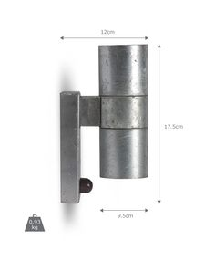 St Ives Up & Down Light with PIR Sensor Hot Dipped Galvanised