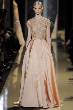 Peachy Gown at Elie Saab Spring Summer Couture 2013 #HauteCouture #HC #Fashion