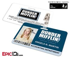 The Office Inspired - Dunder Mifflin Employee ID Badge - Angela Martin