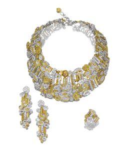 Diamond demi-parure, Adler | Lot | Sotheby's