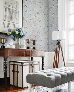 Love this pattern from Best Friend Wallpaper so cute... thibaut source4interiors.com