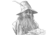 """""""Eldest, that's what I am... Tom remembers the first raindrop and the first acorn... He knew the dark under the stars when it was fearless - before the Dark Lord came from Outside."""" —Tom Bombadil by Alan Lee"""