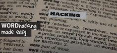 Wordhacking made easy