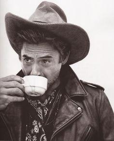 robert downey jr. as a cowboy.... i'll take 2