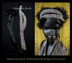 Flapper Tiara/1920s Headband/Flapper Style / Bride by Jevda, $42.00