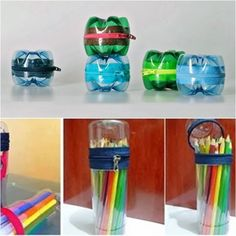 Recycled Plastic Bottles Into Lovely Turtles more details here… Mini Pet Bottle Greenhouse DIY Solar Water Bulb more details here… Plastic Bottle Hanging Vase Reuse Plastic Bottles, Plastic Bottle Crafts, Pet Bottle, Bottle Art, Plastik Recycling, Diy Projects To Try, Craft Projects, Fun Crafts, Diy And Crafts