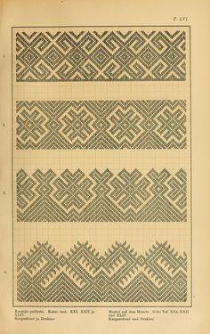 Trachten und Muster der Mordvinen Costumes and patterns of Mordvinians of Viking Art, Bargello, Darning, Brick Stitch, Pattern Books, Cross Stitch Embroidery, Needlepoint, Pattern Design, Diy And Crafts