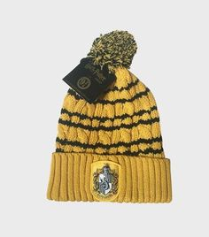 Hufflepuff Knitted Hat   The Harry Potter Shop at Platform 9 3/4