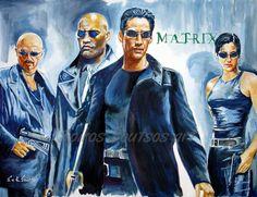 The Matrix 1999 movie poster original painting artwork by Spiros Soutsos