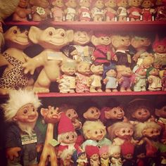 troll dolls, I always thought they were ugly little dolls lol....but yet I had so many growing up in the 80s lol