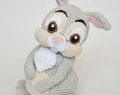 Crochet PATTERN White Rabbit Alice in Wonderland Lewis por Krawka