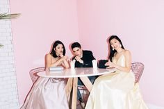 From left to right: Dress from Honey, Clutch and Necklace from Aldo; Suit from Simons, Shoes from Aldo, Pants from Indochino; Dress from Marla's, Earrings from Claire's, Clutch from Le Chateau. #promdress #prom #promshopping #honeystores #peacecollective #peacetreats #milkshake #afterparty #bridesmaids #thatONEmoment Prom Dresses, Formal Dresses, Milkshake, Aldo, All Things, Bridesmaids, Honey, Suit, Earrings