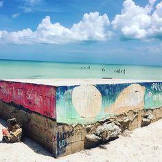 #streetart #art #graffiti #mexico #mexiko #artwork #urbanart #graffitiart #yucatan #holbox #islaholbox #holboxisland #playa #backagain
