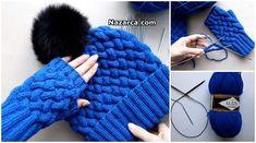 Takım Şişle Hardal Dokuma Örnekli Mavi Dikişsiz Bere ve Tek Parmaklı Takım Eldiven yapımı için Videolu anlatıma bakabilir Takım Kışlık Örme Eldiven Bere Bayan Takım örebilirsiniz. Dikişsiz Kolay B…