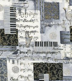 Novelty Cotton Fabric- Classic Music 7.99