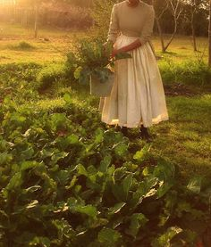 i want to be wearing prairie dresses in my garden.... in the dry season at least. ;)