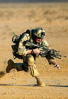 Air force soldier in action (CCT or PJ)