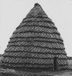 Reconstructed Caddo hut. Larger than the Wichita huts.