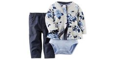Carter's 3-Piece Bodysuit Floral Cardigan & Pant Set $4.79 (belk.com)