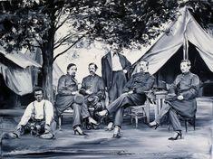 Peintures de photos anciennes aux détails incongrus paco pomet peinture realiste ancien detail 02