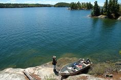 Rent a cabin right by the lake and enjoy spectacular views from the deck.  Contributed by Whitefish Bay Camp