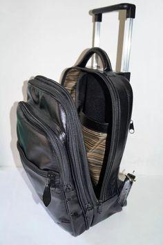 018474f98 mochila escolar com carrinho 100% em couro legítimo promoção